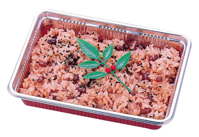 赤飯 赤色で小豆入りです。