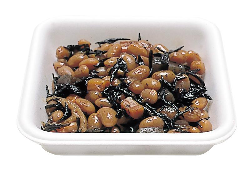 ひじき豆 ひじきと地元産大豆を煮込んであります。