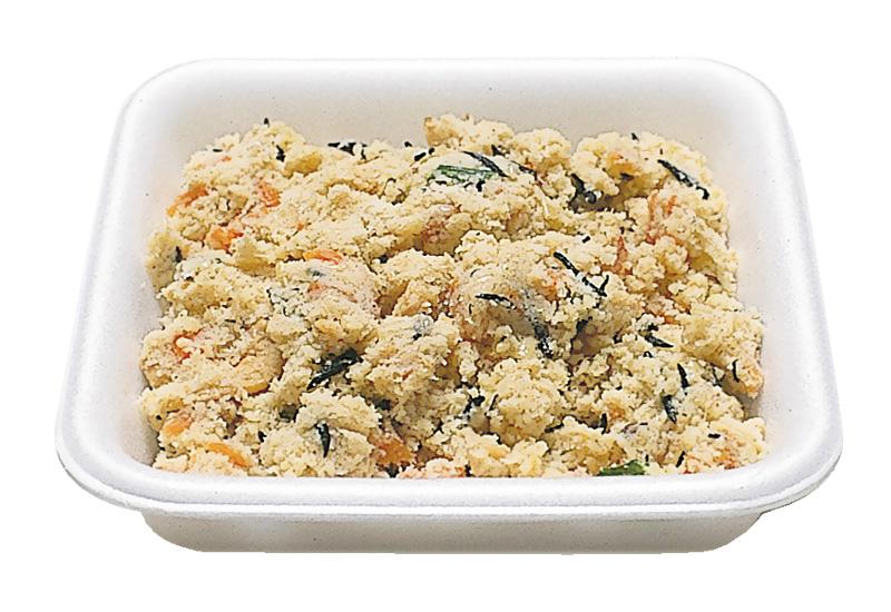 うの花 栄養バランスよく、大豆のオカラに野菜類とミンチ。